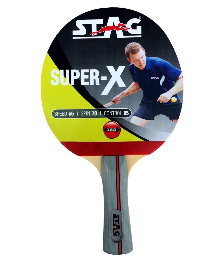 Stag Table Tennis Single Racket - Super X (Multicolor)
