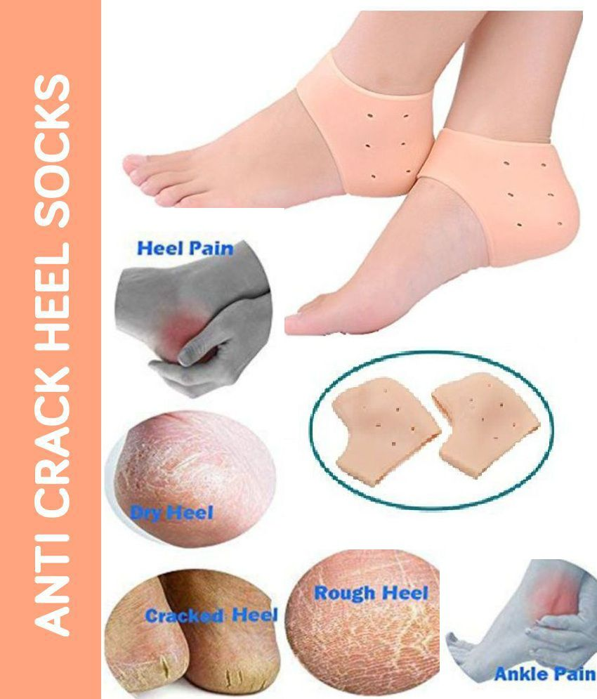 Stay Healthy Silicone Anti Crack Heel Protector Socks - Free Size