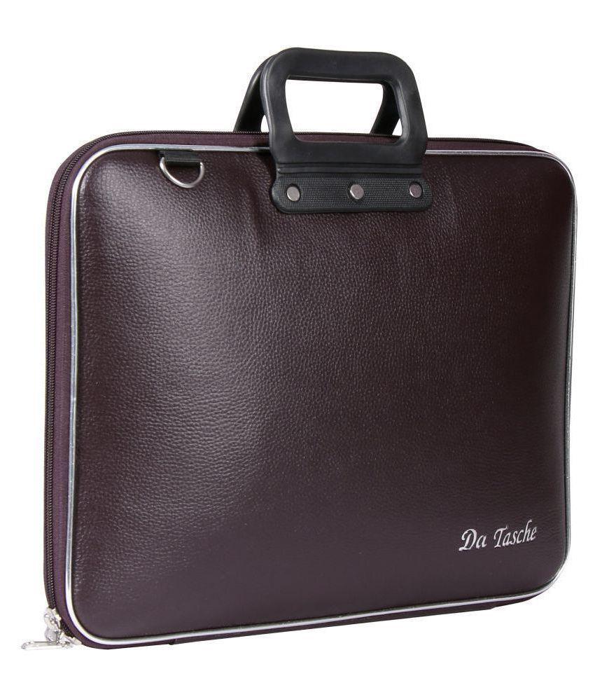 Da Tasche SLV BRN SLV Brown P.U. Office Bag