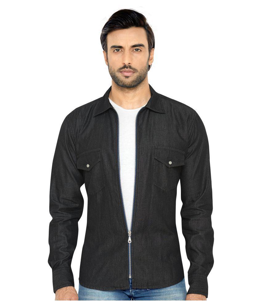 Globalrang Denim Black Solids Shirt