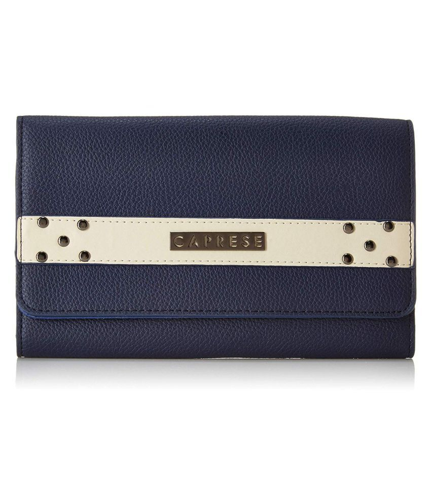 Caprese Navy Faux Leather Handheld