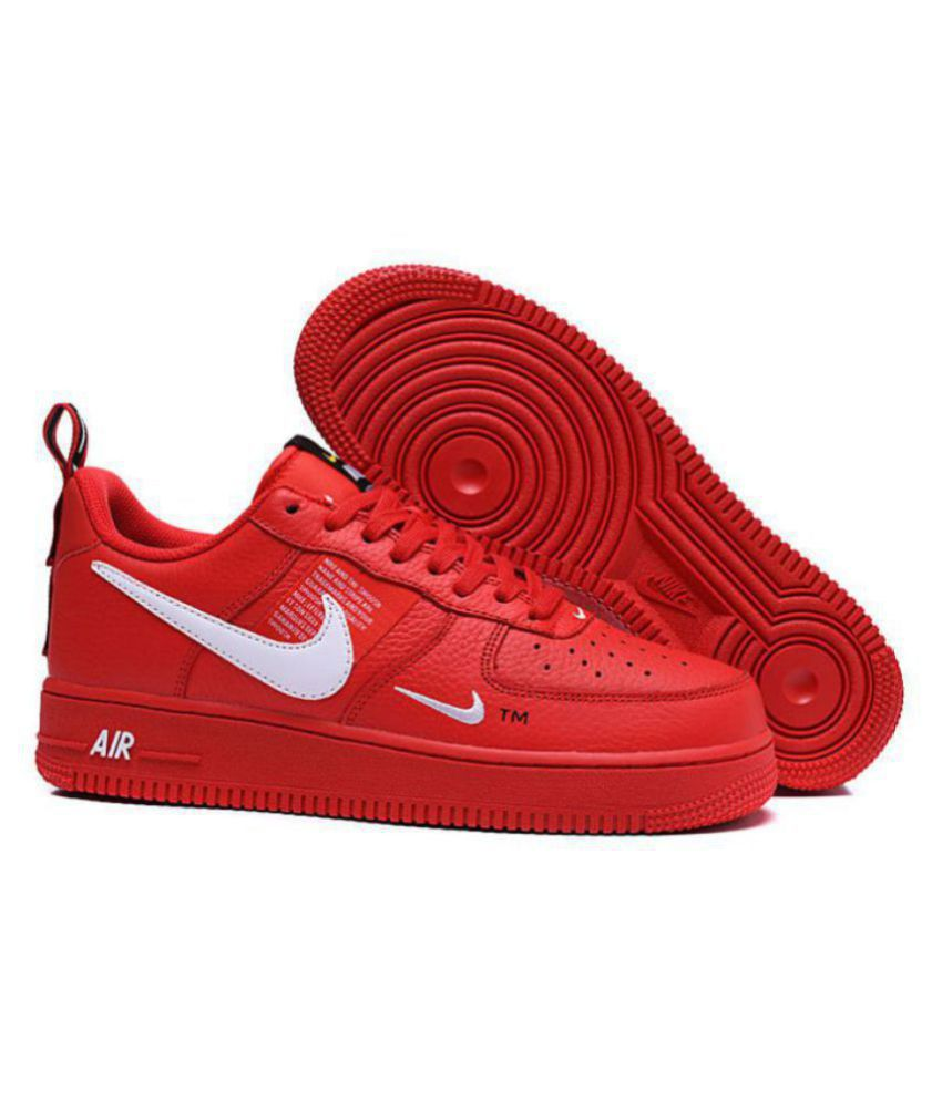 Nike Air force utility Red Running