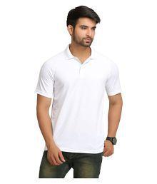 Adidas Polyester Yellow Plain Polo T Shirt