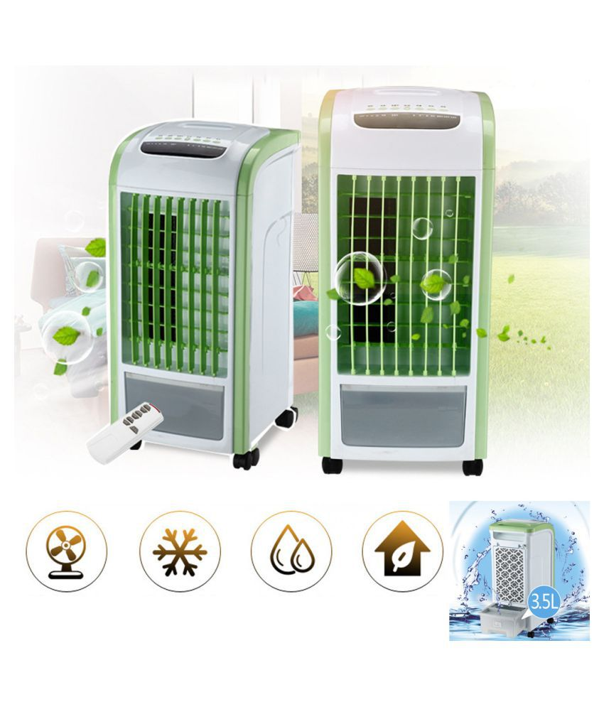 4 in 1 Air Cooler Green With Remote Control Fan Humidifier and Air Freshener