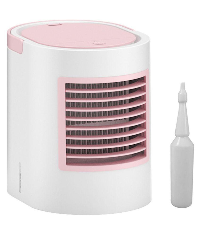 Mini Air Cooler Mobile Air Conditioner Quiet Desk Fan With Multicolor Light