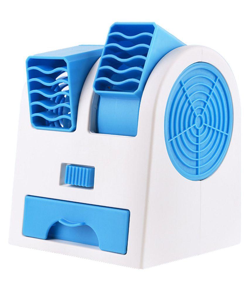 Mini Dual-Port Leafless Cooling Silent Fragrance Portable USB Desktop Small Fan