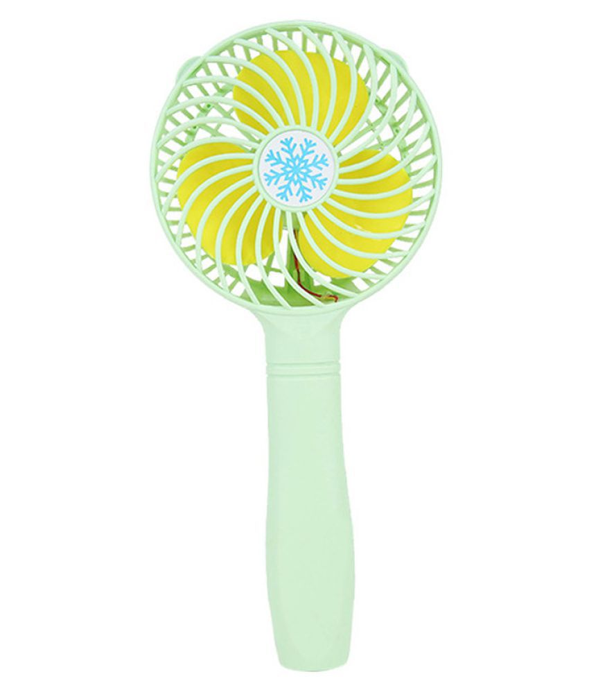 Mini Portable Hand-held Desk Fan Cooler Cooling USB Rechargeable Green
