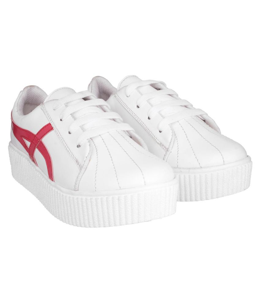 SHEZONE White Casual Shoes
