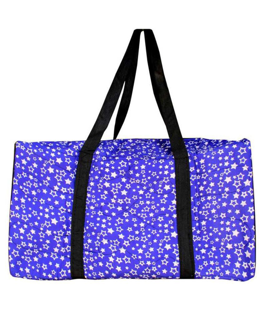 HD Blue Polyster Shoulder Bag