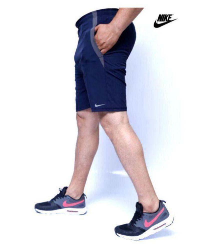 Nike AS Cllgr Running Navy Shorts