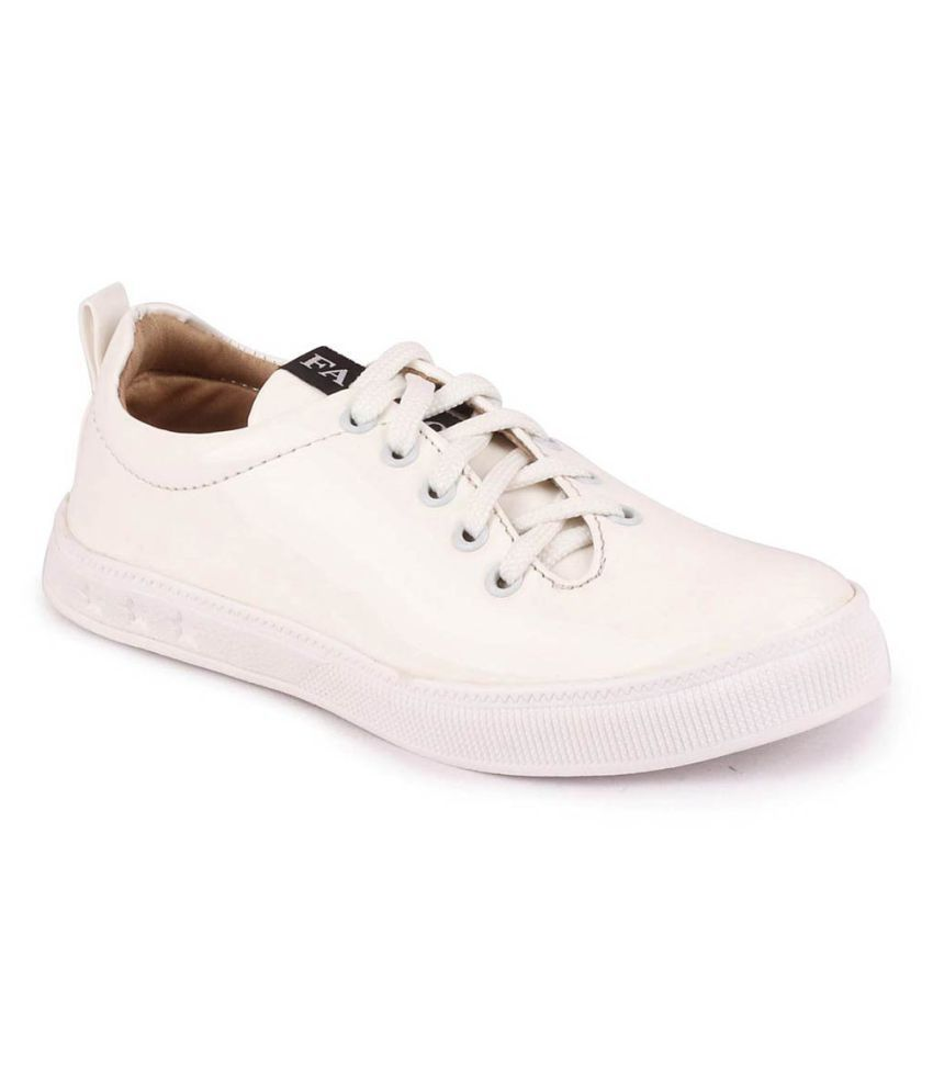 Fausto White Casual Shoes