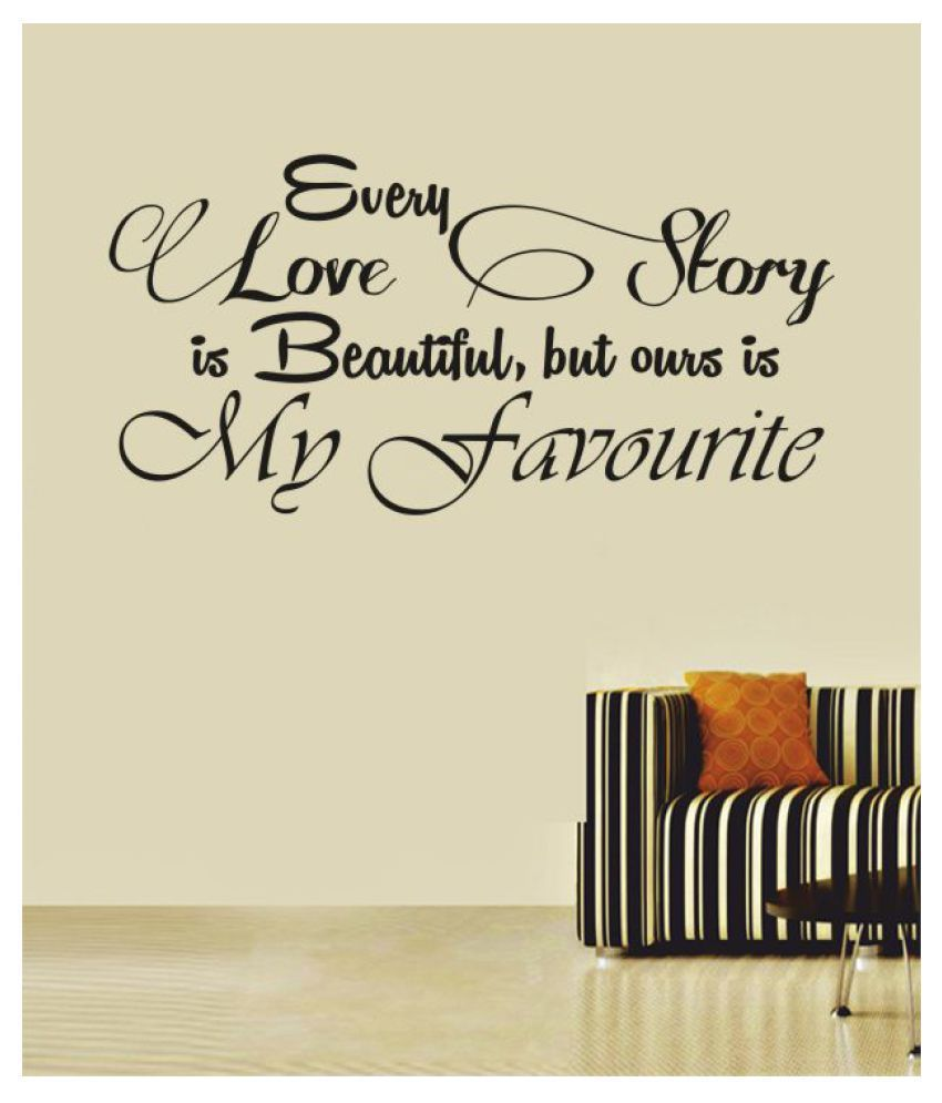 Ritzy Love Story Wall Quotes Decal Motivational Quotes Sticker 60 x 30 cms