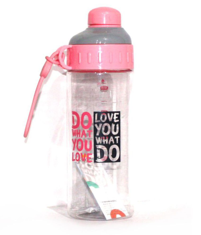 Aarban Pink 650 mL Polycarbonate Water Bottle set of 1