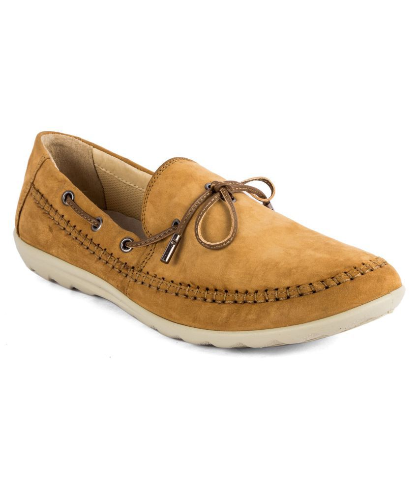 WOODLAND 1 Camel Casual Shoes