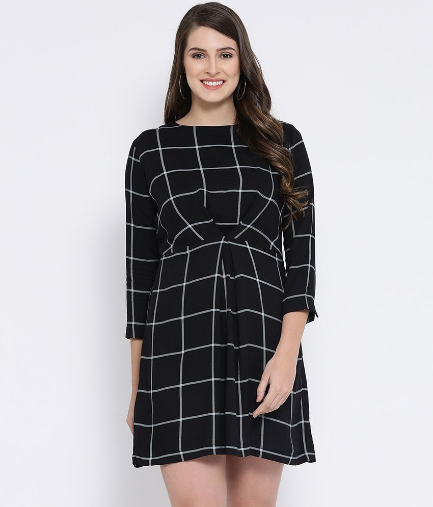 Oxolloxo Viscose Black Skater Dress
