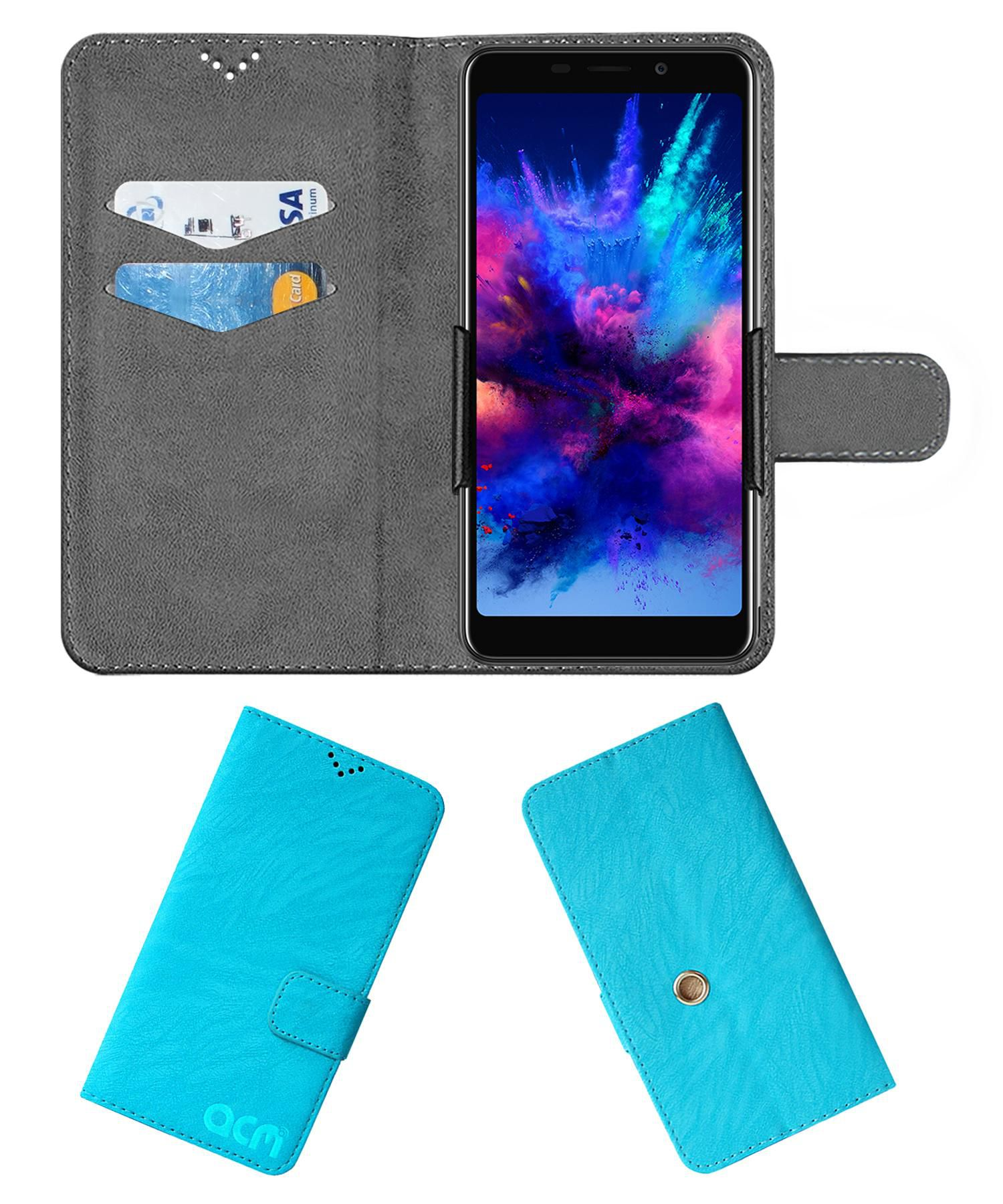 Panasonic P110 Flip Cover by ACM - Blue Clip holder to hold your mobile securely