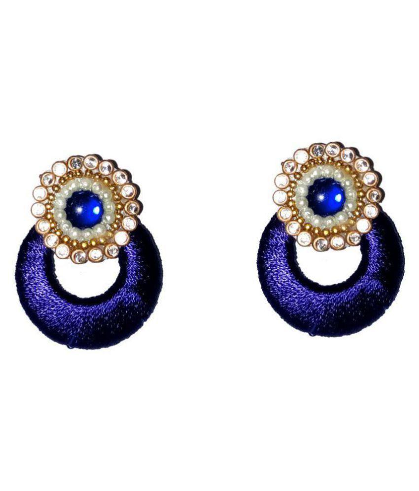 Fashionable Blue Chandbali Earrings By shrungarika