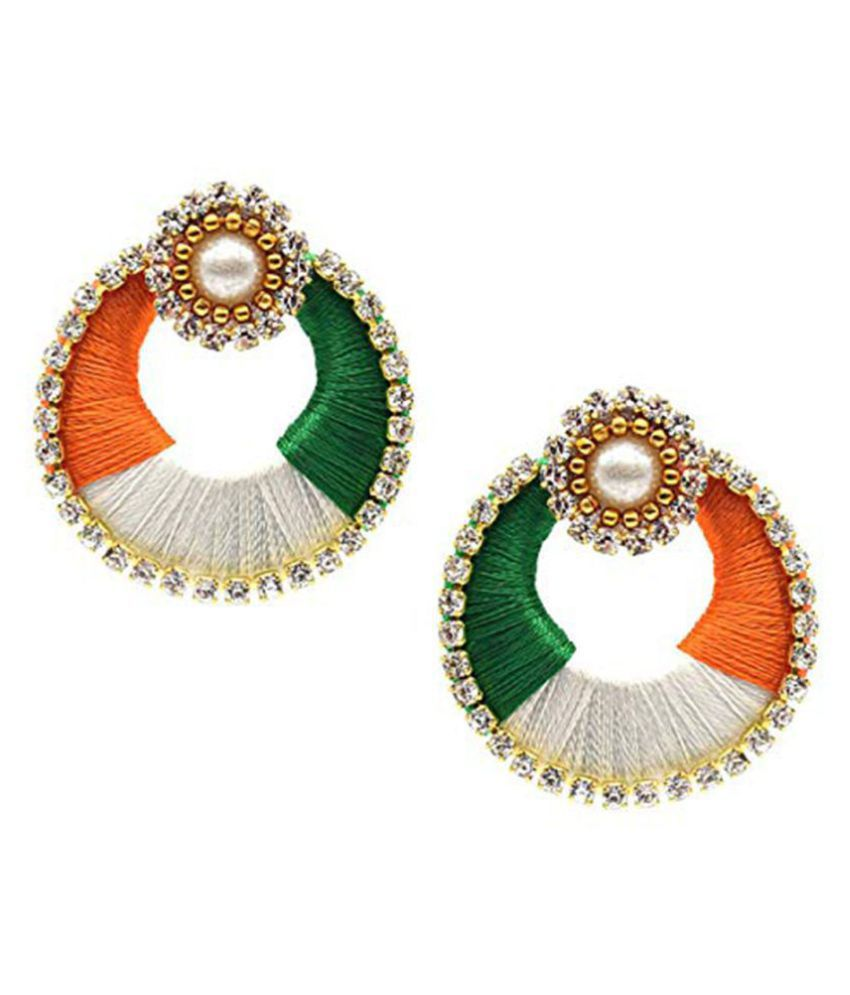 Fashionable Tiranga earrings by shrungarika