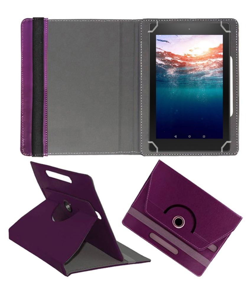 Universal 25.65 cm(10.1) 25.4 cm(10) Any Tab Flip Cover By FASTWAY Purple