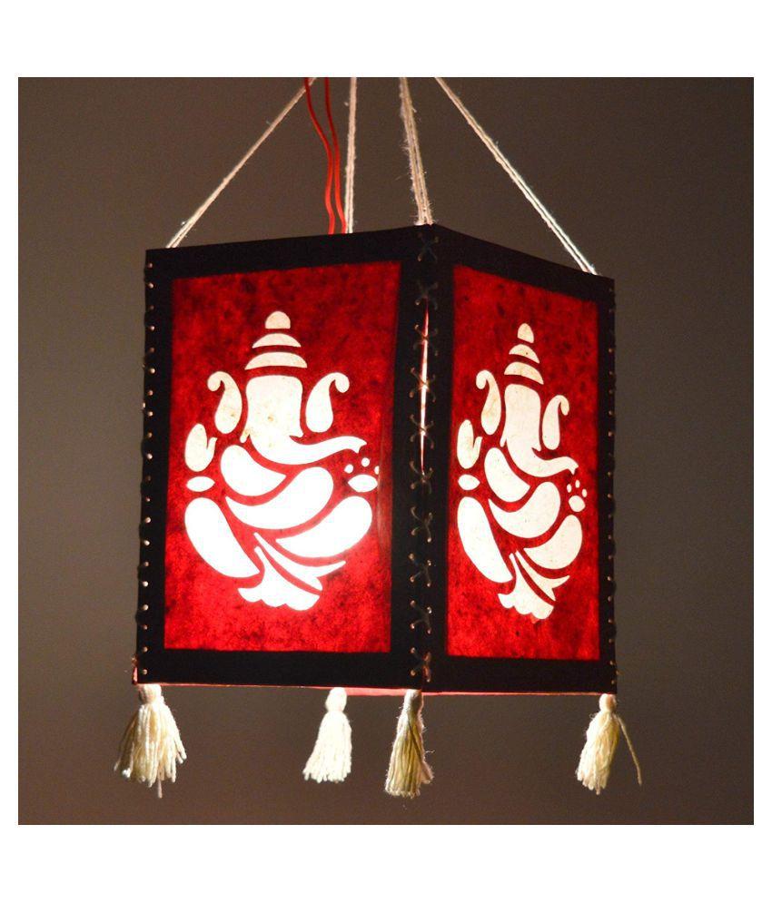 AWM Awadhmart Rectangular Paper Lamp Shade Multi - Pack of 2
