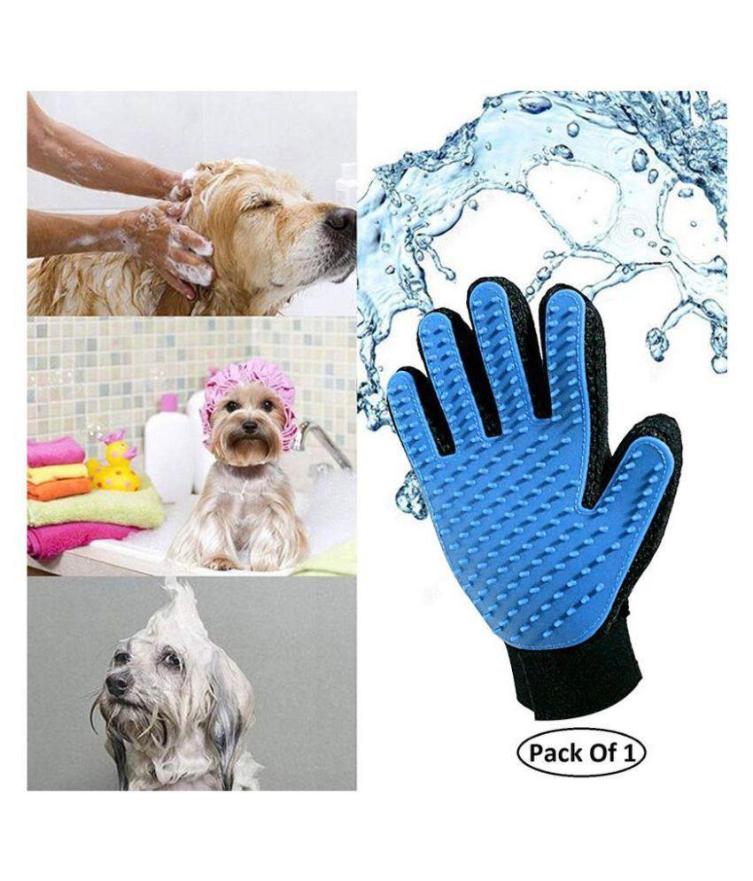 NYALKARAN   Pet Silicone Shower Glove Animal Massage Hair Removal Dog Cat Grooming Deshedding Bath Glove