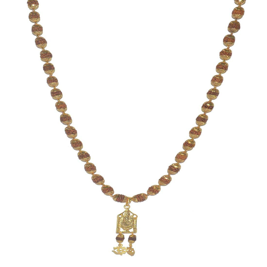 Lord  Tirupati Balaji Religious God Pendant With Rudraksha Mala