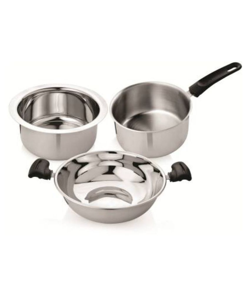 Home Select Induction Base 3 Piece Cookware Set