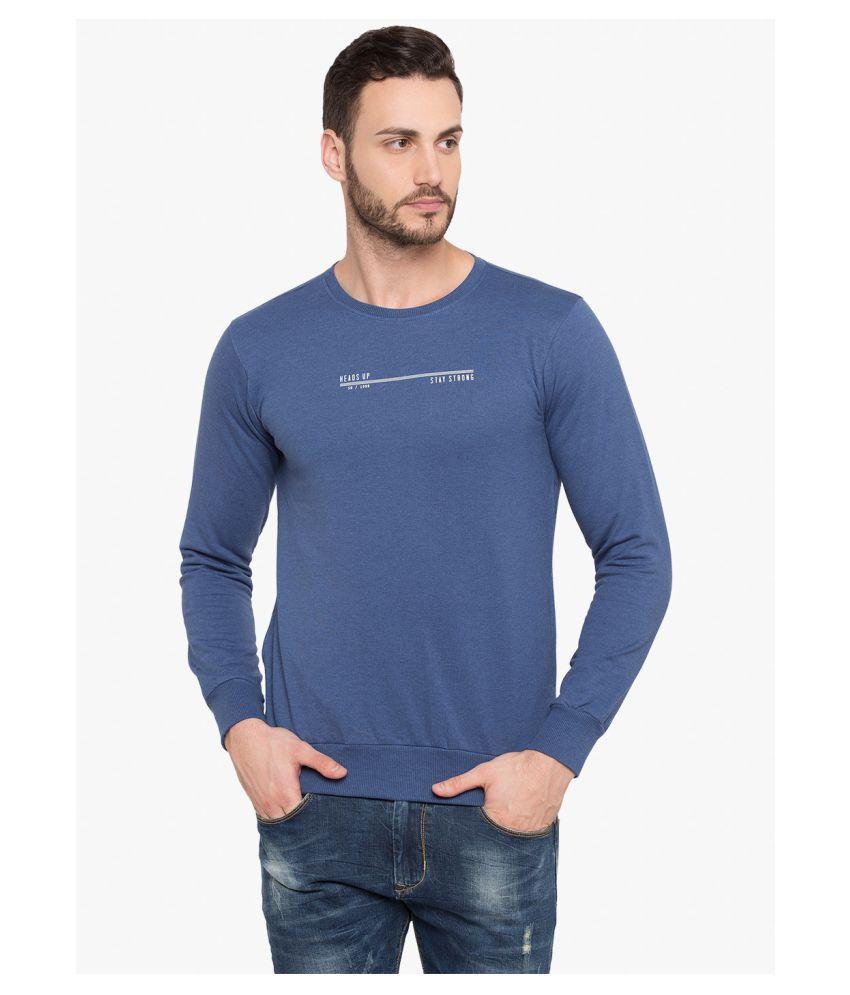 Status Quo Blue Round Sweatshirt