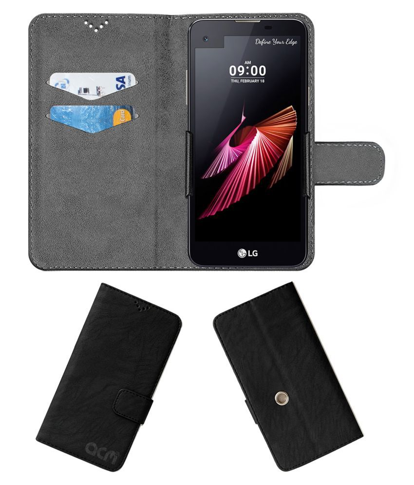 Lg X Screen K500i Flip Cover by ACM - Black Clip holder to hold your mobile securely