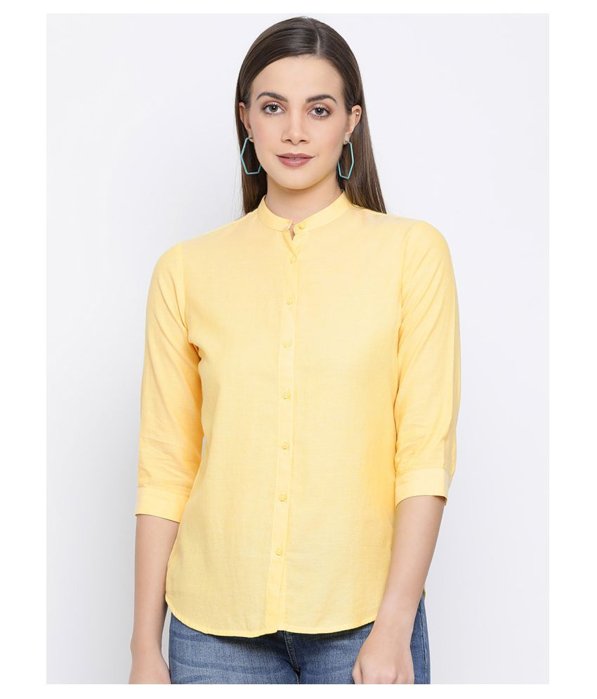 Crimsoune Club Yellow Poly Crepe Shirt