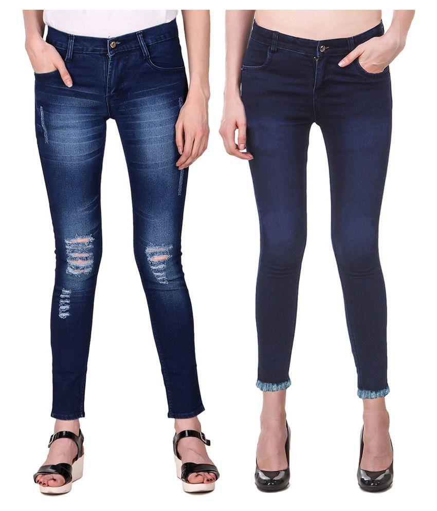 Ansh Fashion Wear Denim Lycra Jeans - Multi Color