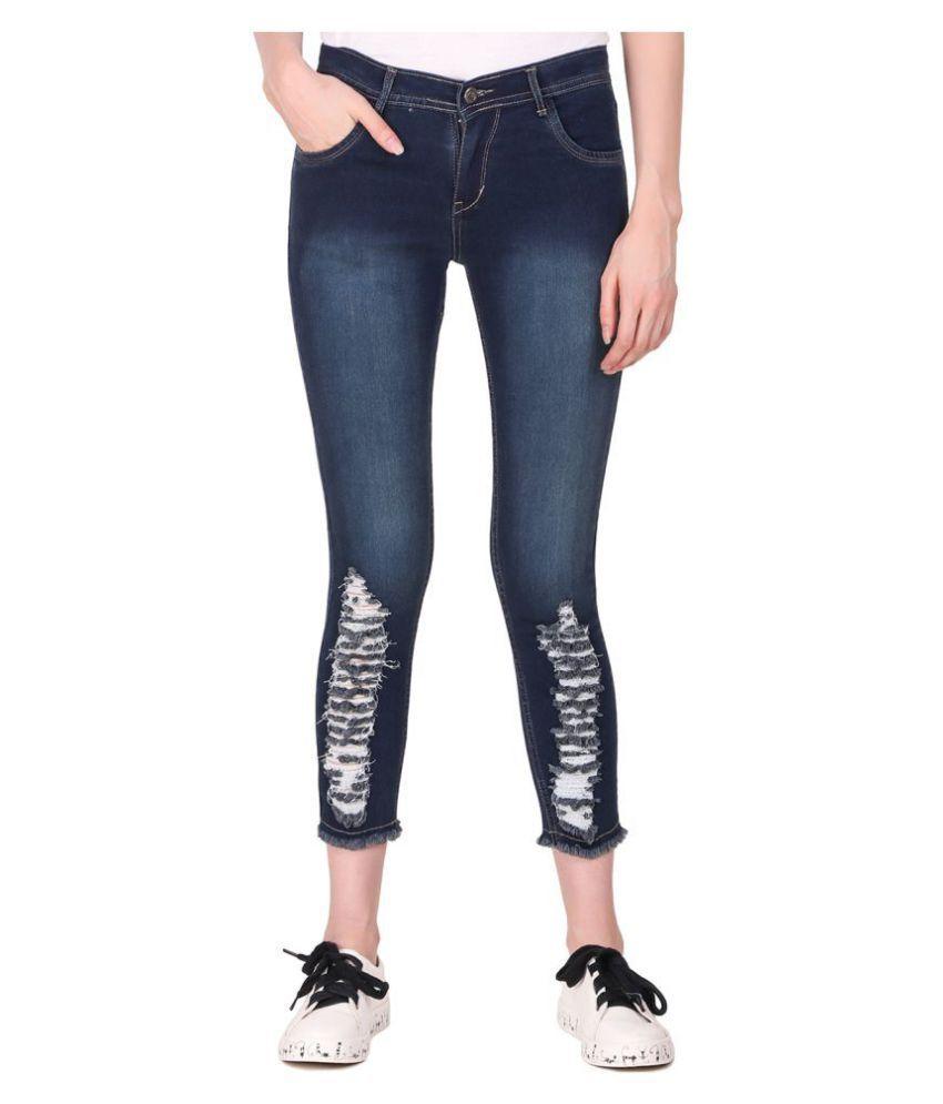 Ansh Fashion Wear Denim Lycra Jeans - Blue