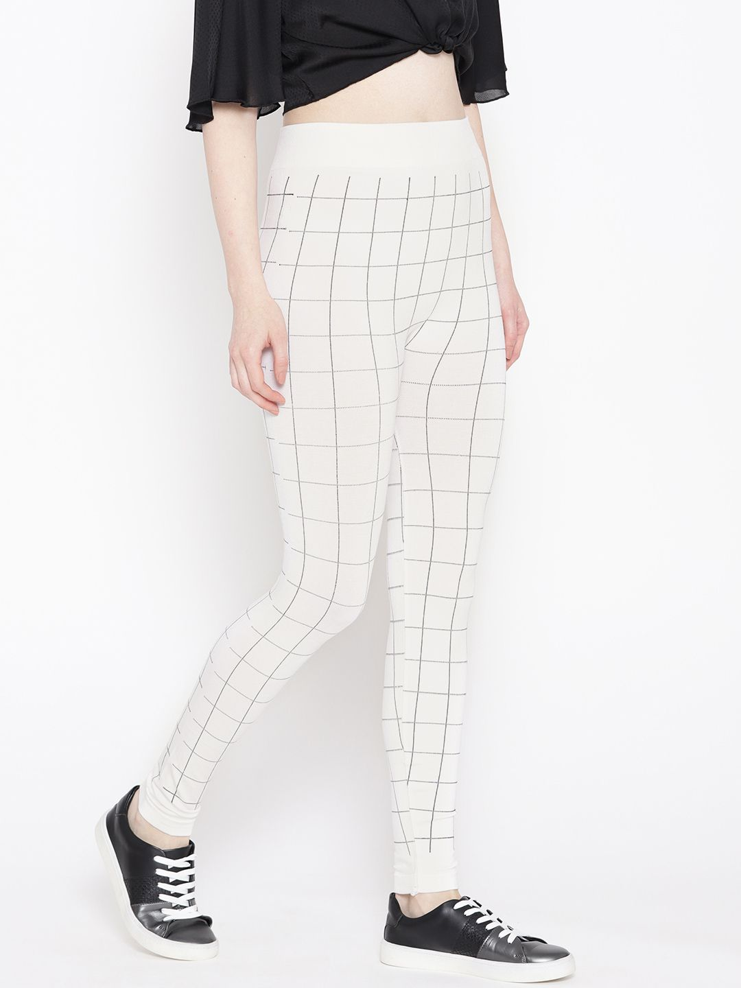 Ants Rayon Jeggings - White