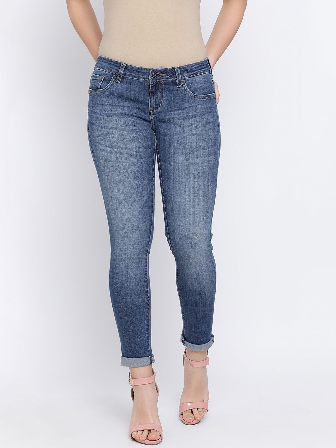 Crimsoune Club Cotton Jeans - Blue