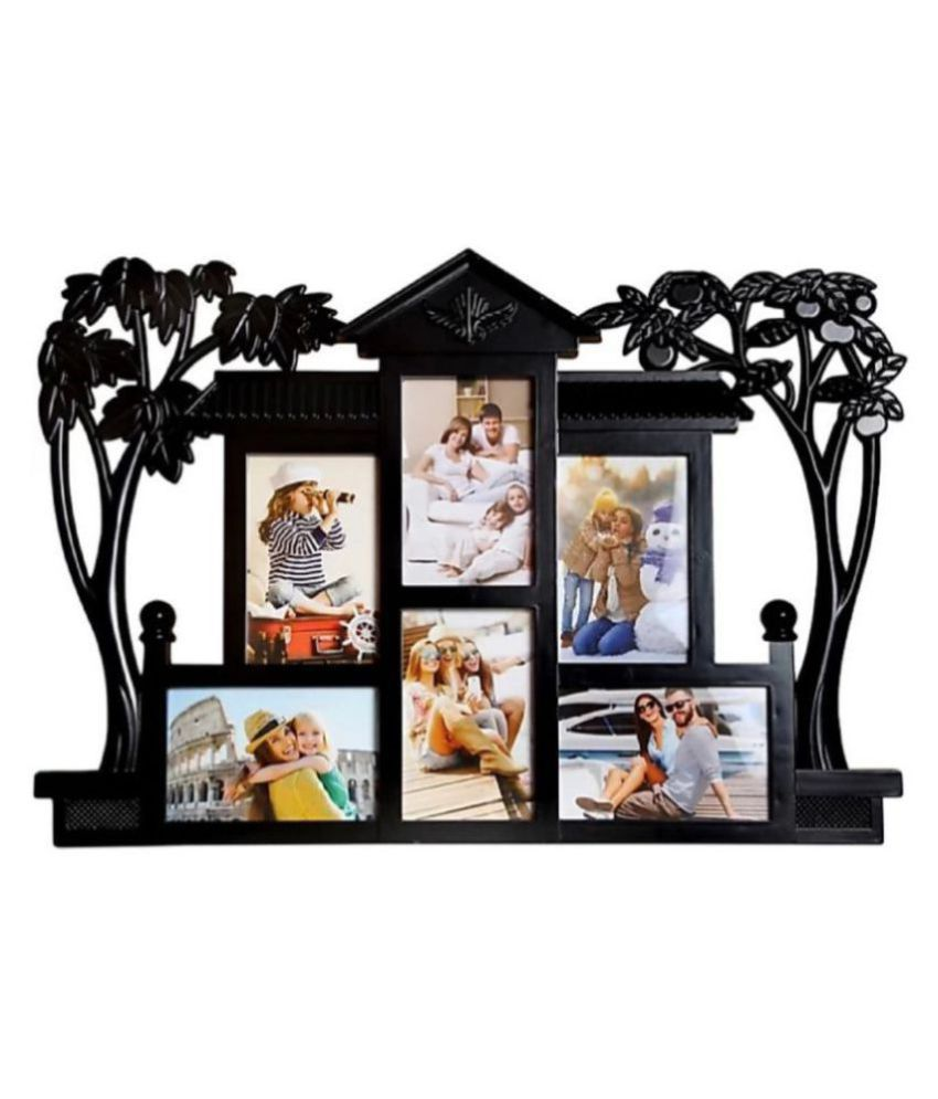Shagun Plastic Table Top & Wall hanging Black Collage Photo Frame - Pack of 1
