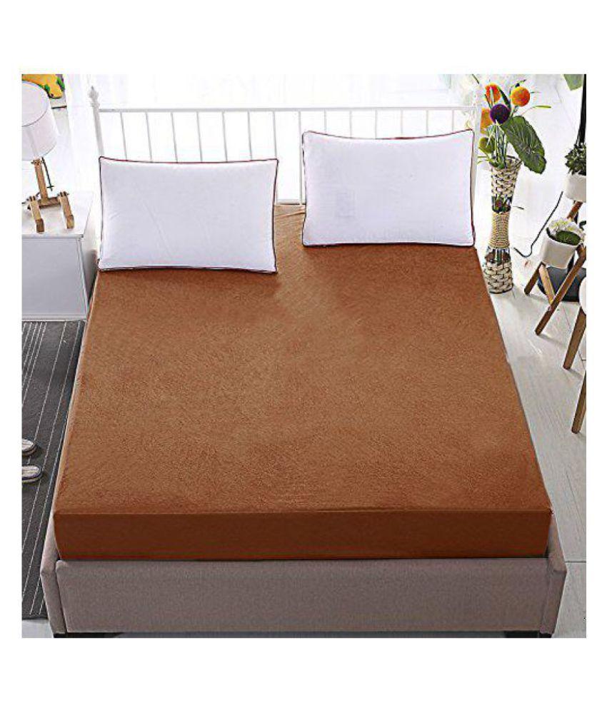 HomeStore-YEP Brown Cotton Mattress Protector