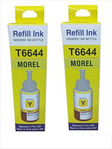 Morel INKJET INKTANK INK Yellow Pack of 2 Ink bottle for Epson L100 / L110 / L200 / L210 / L300 / L350 / L355 / L550 Printer Color Yellow
