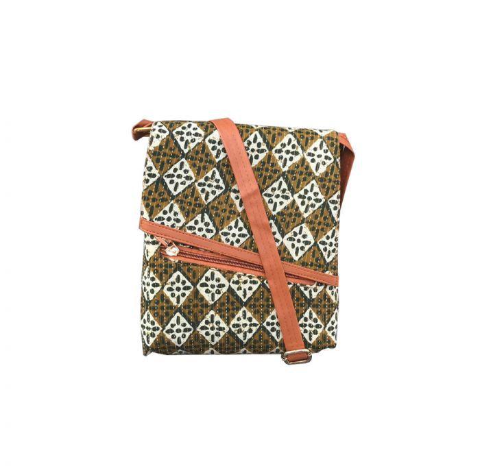 Craferia Export Green Fabric Sling Bag