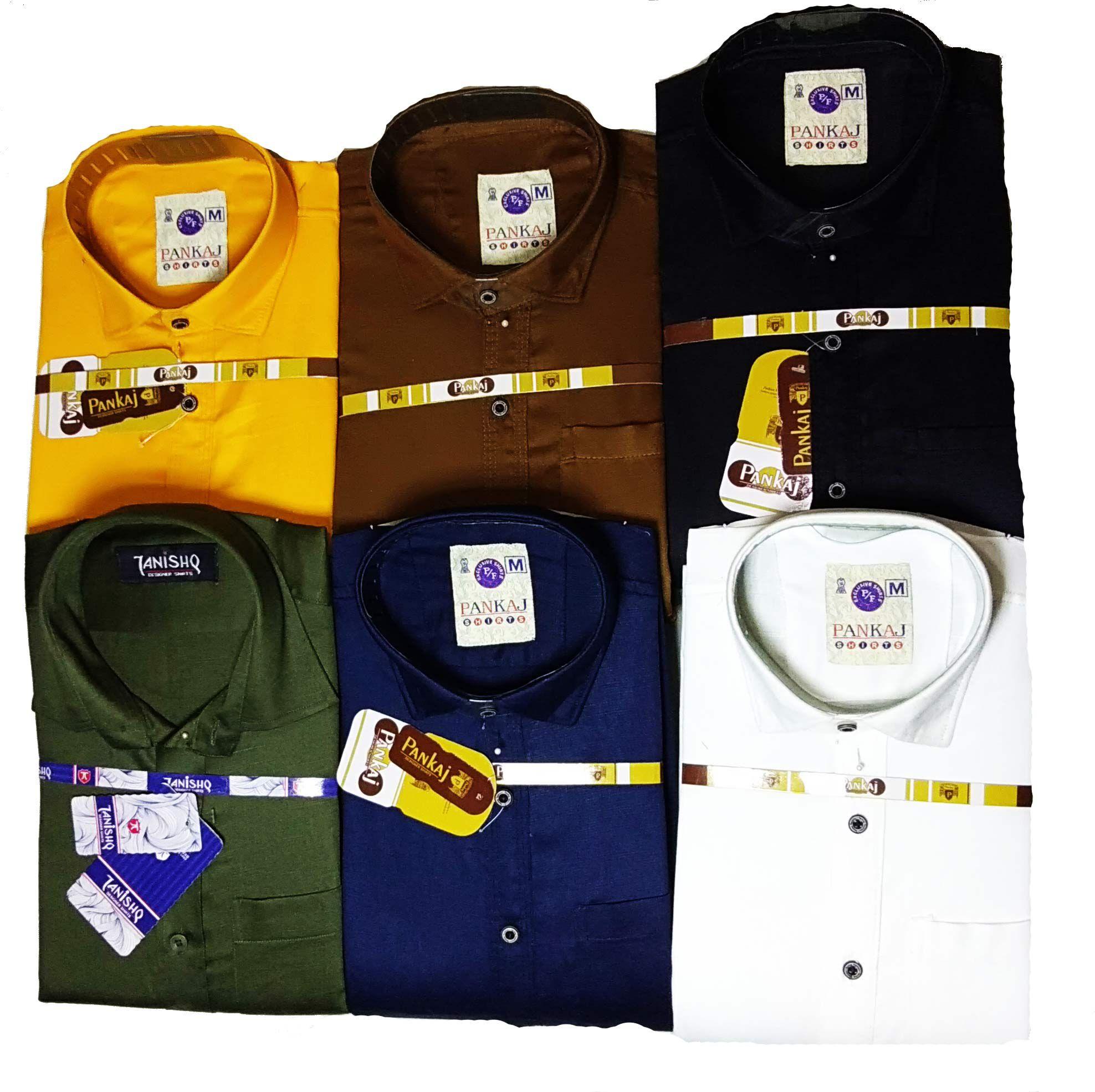 GANARET 100 Percent Cotton Brown Solids Shirt