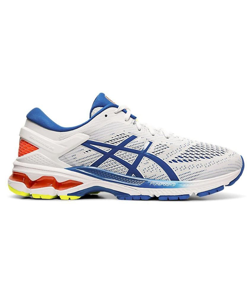 síndrome Polémico regular  Asics Gel Kayano 26 White Running Shoes - Buy Asics Gel Kayano 26 White  Running Shoes Online at Best Prices in India on Snapdeal