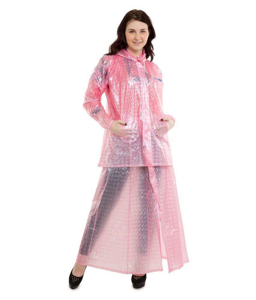 Burdy PVC Raincoat Set - Pink