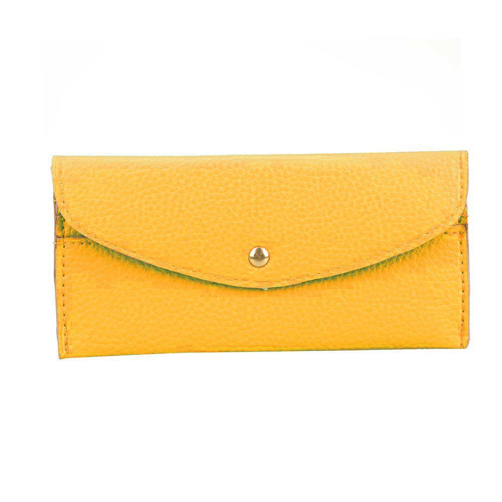 Women PU Leather Bag Clutch Handbag Purse Ultra-thin Envelope Button Wallet Z