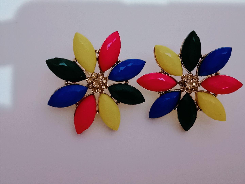 Econkart Gold Plated Flower Earrings for Women & Girls