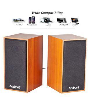 Envent TrueWood 210 2.0 Wooden Multimedia Sound Box Speakers