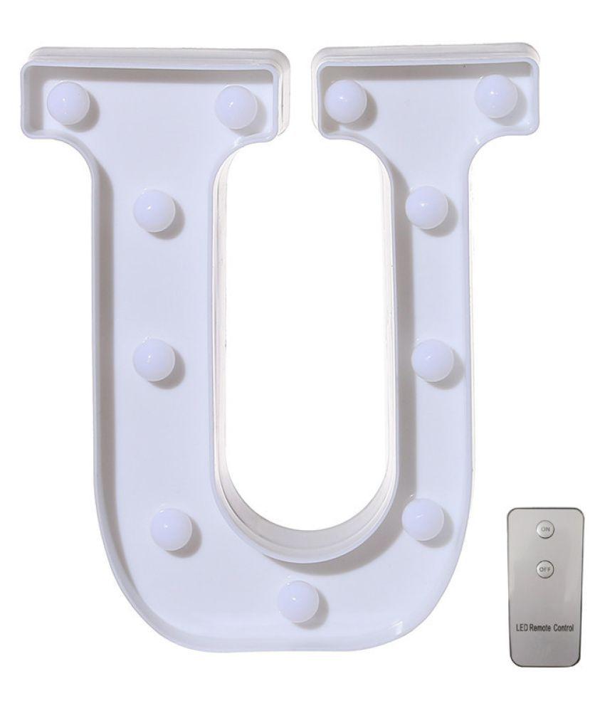 Remote control Alphabet Letter Lights LED Light Up White Plastic Letters Stand