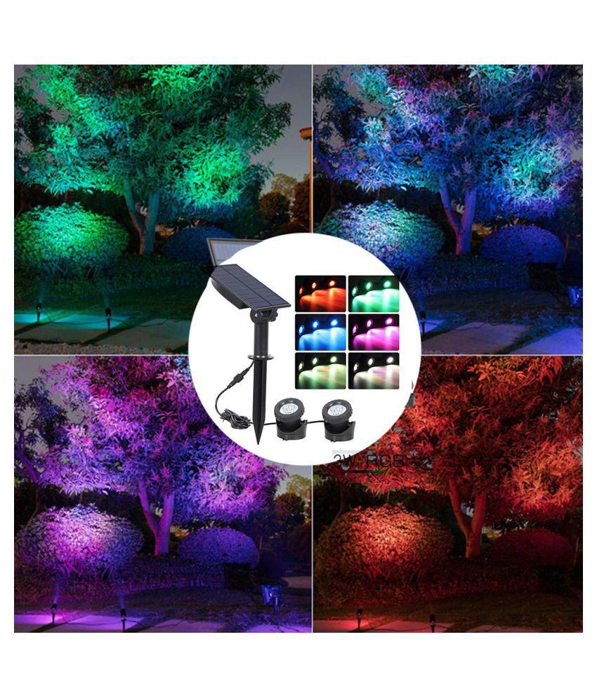 Waterproof Solar Powered LED Spotlight Spot Light Lamp Garden Pool Pond Lamp