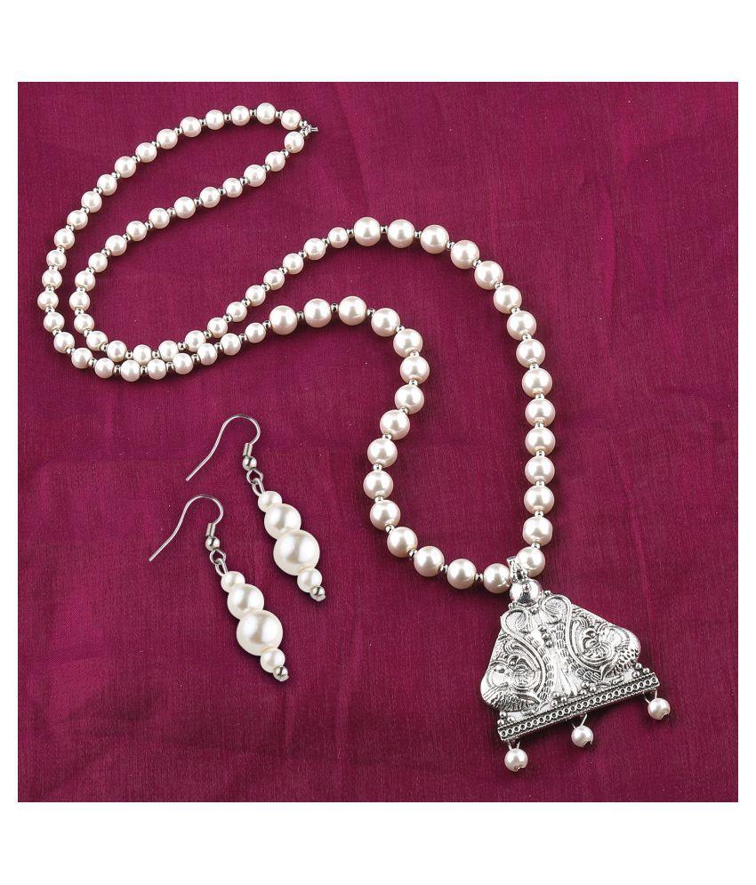 Silver Shine Alloy Silver Contemporary/Fashion Antique Necklaces Set