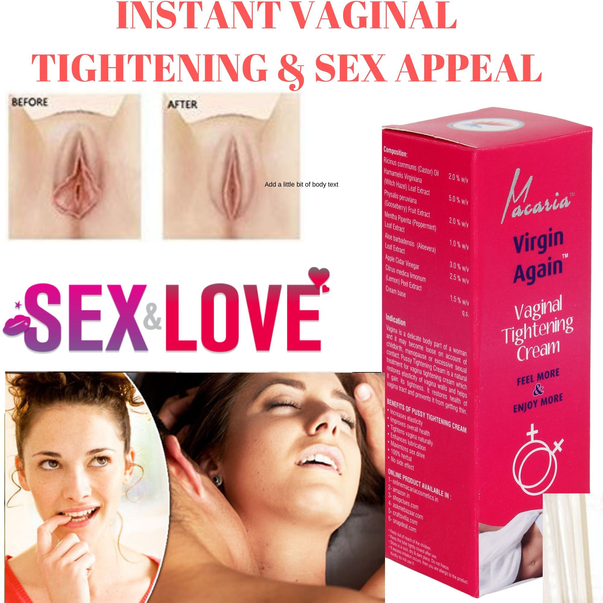 Tight V A G I N A L Tightening Gel Cream Buy Tight V A G I N A L