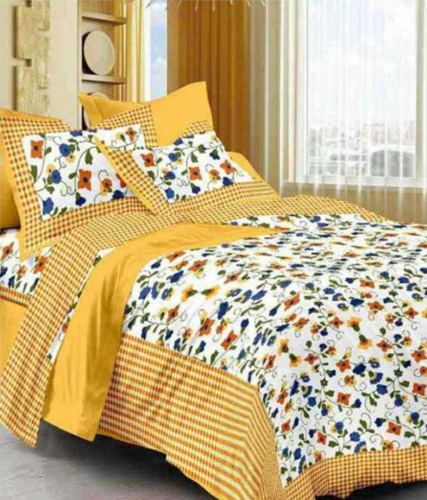 Jaipuri Bedsheet Cotton Double Bedsheets with two pillow covers