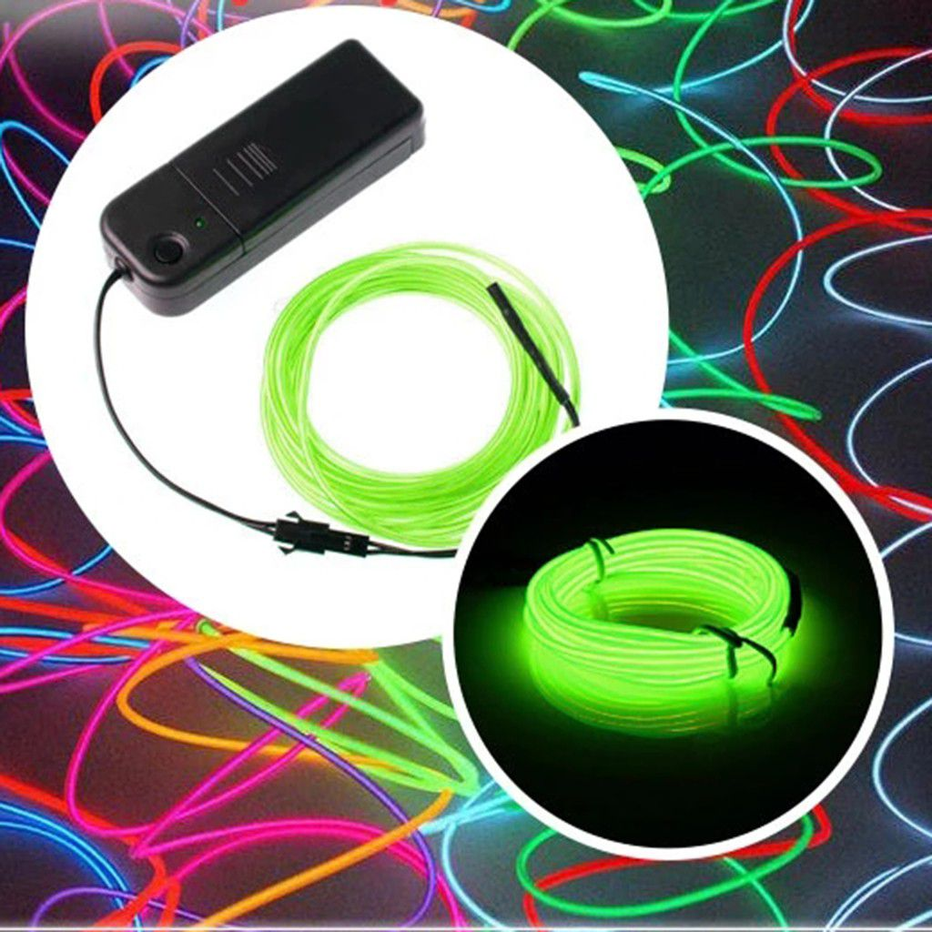 1m Battery Operated Luminescent Neon Led Lights Glow El Wire String Strip Rope Buy 1m Battery Operated Luminescent Neon Led Lights Glow El Wire String Strip Rope At Best Price In India